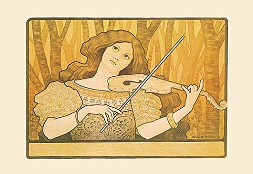 Poster Advertising Violin Lessons - Lessons of the Violin Fine Art Canvas Print (20