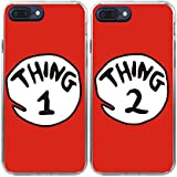 iPhone7 Plus Case-TTOTT 2X BFF Case Cute Red Thing 1 2 Design Lovers Couple Best Friends Ultra-Slim Soft Silicone Bumper Frame Hard Back Cover Case for iPhone7 Plus 5.5''inch 2016 New Model