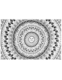 Zest For Life Cat Mandala Tapestry Kitten Tablecloth Kitty Beach Sheet Wall Art 80x52 Inches - FREE Sticker Included