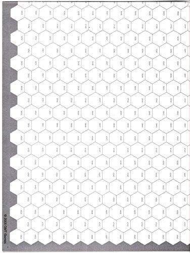 [해외]GMT: Seven (7) Pack of Blank Hex Maps with 16mm (~12) Hexes with Long Grain / GMT: Seven (7) Pack of Blank Hex Maps with 16mm (~12) Hexes with Long Grain