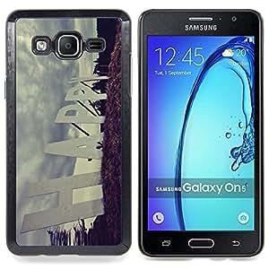 "Qstar Arte & diseño plástico duro Fundas Cover Cubre Hard Case Cover para Samsung Galaxy On5 O5 (Cita Slogan feliz Muestra de camino positivo"")"
