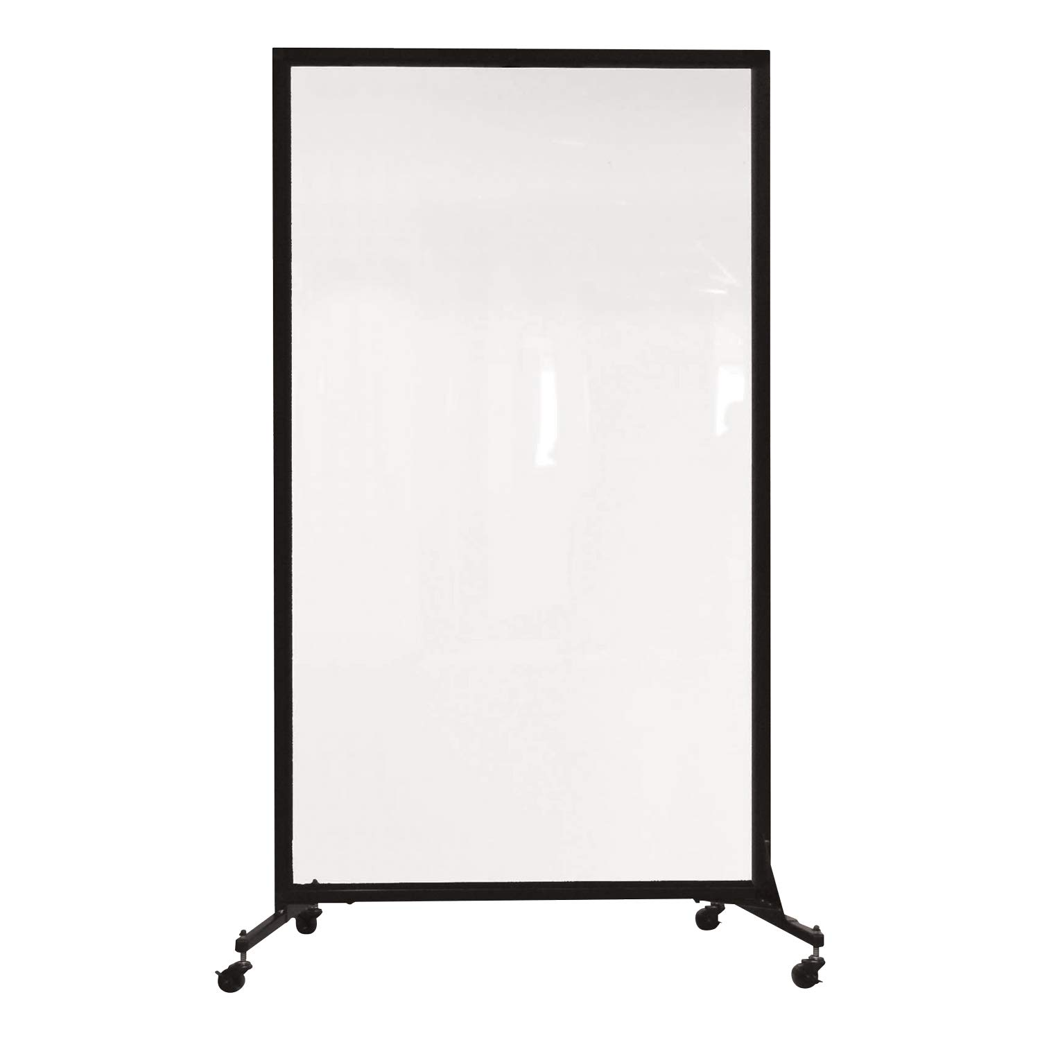 "Norwood Commercial Furniture Healthy Safeguard Clear Portable Room Divider/Privacy Screen 6' 2"" H- One Panel (3' 4"" L) for Medical Facilities, Schools, Airports, Athletic Facilities"