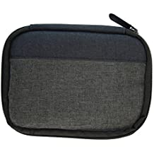 XtremPro USB Flash Drive Case, Universal Portable Electronic Accessories Organizer Holder, USB sticks, U Disk, SD Memory Cards w/ 6 Mesh Slots External Hard Drive Carrying Bag - Black, Grey (11136)