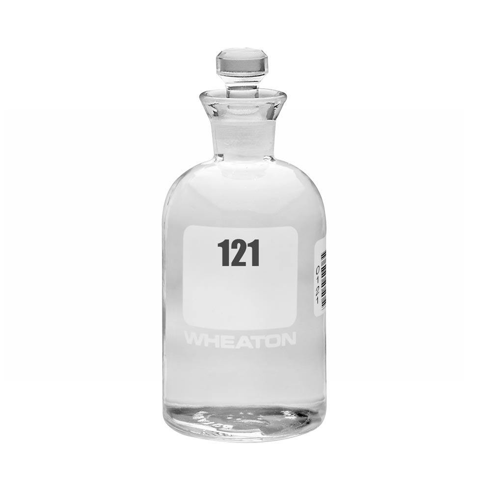 Wheaton 227497-06 BOD Bottle, 300mL, Robotic Stopper, Numbered 121-144, 69mm Diameter x 165mm Height (Case Of 24)