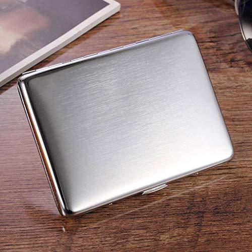 Brossé Chrome Qualité À De Haute 10 Contenir avec Étui Inoxydable Pouvant Boîte Cigarettes Acier En cadeau Cigarettes zHwH0qA8