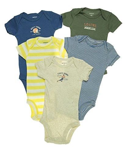 Carters Baby 5 pack Short sleeve Bodysuit