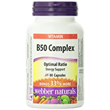 Webber Naturals Vitamin B50 Complex Easy Swallow Capsule, 50mg