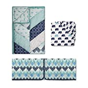 Mosaic 3 Piece Baby Crib Bedding Set by The Peanut Shell