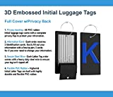 Luggage Tag Initial Bag Tag - Fully Bendable Tag