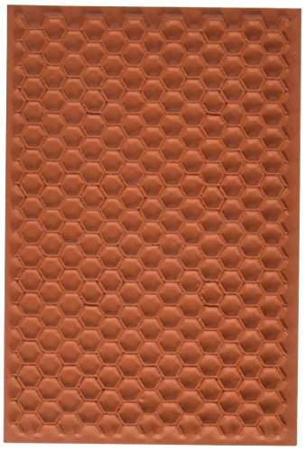 Deep Red Stamps Honey Comb Rubber Stamp