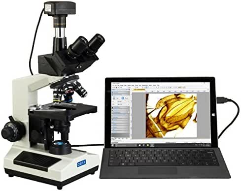 OMAX 40X-2500X Super Speed USB3 14MP Digital Compound Trinocular LED Lab Biological Microscope