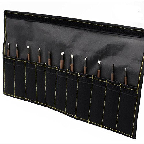Kit Porcelain Lever (Stone Carving Tool Kits KangTeer 11pcs Manganese Steel Hand Engraving Knife Carving Chisels Vise Clamp Kits)