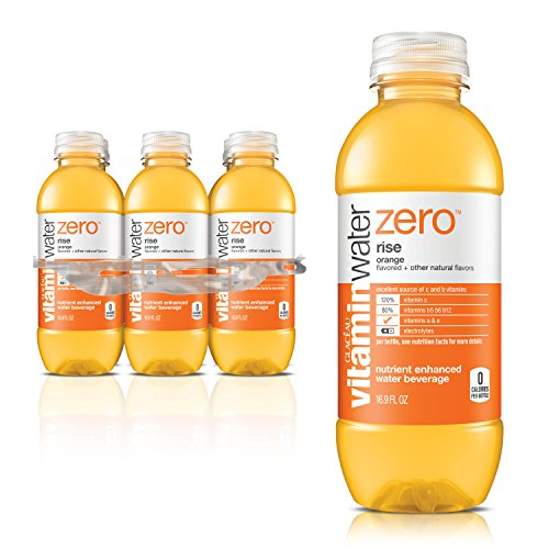 vitaminwater zero rise, electrolyte enhanced water w/ vitamins, orange drinks, 16.9 fl oz, 6 Pack (Best Vitamin Water For A Hangover)
