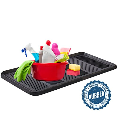 SafetyCare Heavy Duty Flexible Rubber Boot Tray Door Mat - 32 x 16 Inches - 2 Mats by SafetyCare (Image #5)