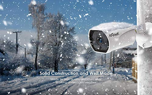 Outdoor Security Camera, Wireless WiFi Home IP Surveillance Camera with IP66 Waterproof, 1080P, 30m IR Night Vision, Two-Way Audio, PIR Smart Motion Detection, Remote View-iOS, Android, PC