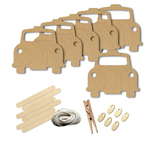 Black Cabs London (Taxi Black Cab London Transportation Style 4363, Wood Shape Craft Kit, 4 Inch Size Kids Project Kit, Great Party, School and DIY)