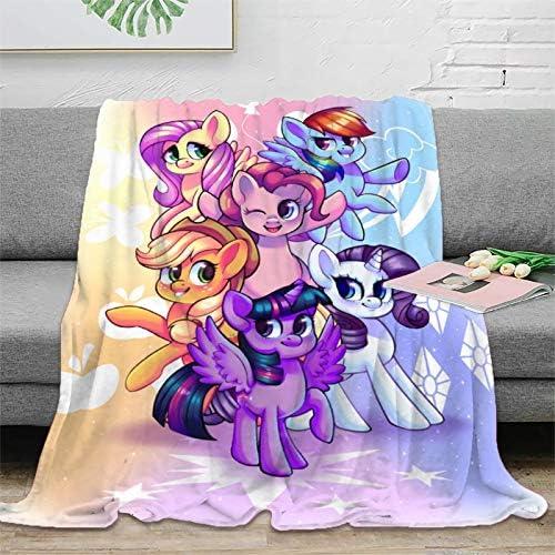 NUOMANAN My Little Pony Couverture d'été légère douce et fraîche 180 x 230 cm