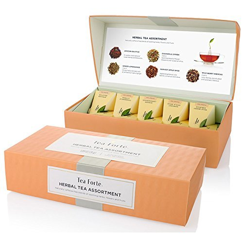 - Tea FortÃÂ Petite Presentation Box Sampler with 10 Handcrafted Pyramid Tea Infusers - Herbal Tea Assortment by Tea Forte