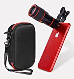 WGear Telephoto Cell Phone Lens by, 12X HD Zoom Lens Kit with Wide Angle Macro Lens, feature designed travel case, Universal Clip for Smartphone IOS, Android and others