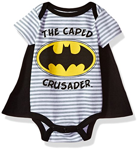 Warner Brothers Baby Boys' Batman Creeper With Cape, Black, 0/3m