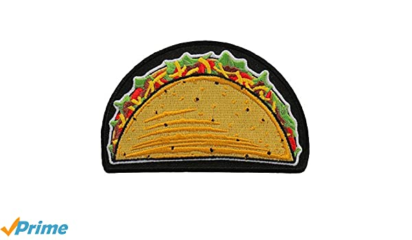 Taco//Taco Supreme//Food//Mexican Iron on Applique//Embroidered Patch