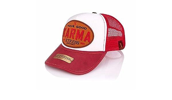 Gorra roja y blanca para hombre y mujer.: Amazon.es: Ropa y accesorios