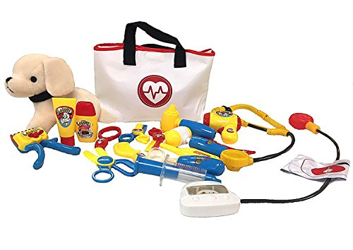 (Deluxe Pet Care Play Set - Vet kit and grooming kit -)