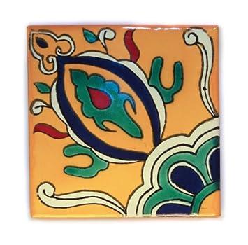 Mexikanischen handgemachten Talavera 10.5cm Fliesen Eine Packung von 25