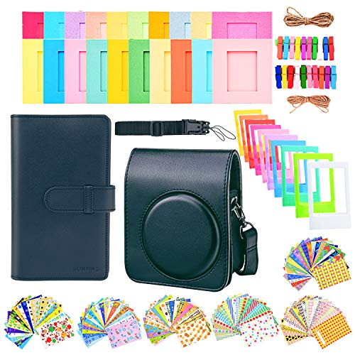 Sunmns Accessories Bundle Kit Set for Fujifilm Instax Mini 70 Instant Film Camera, Accessory Include Case, Album, Stickers, Photo Frames, Hanging Frame, Strap (Black)