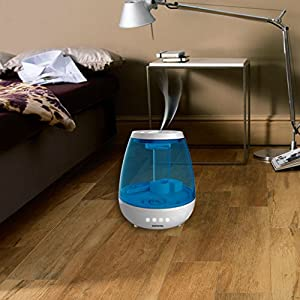 Signstek Ultrasonic Warm & Cool Mist Humidifier - with LED Display, 1Gallon Large Capacity, Automatic Shut-off, Whisper-quiet Operation,and Night Light Function
