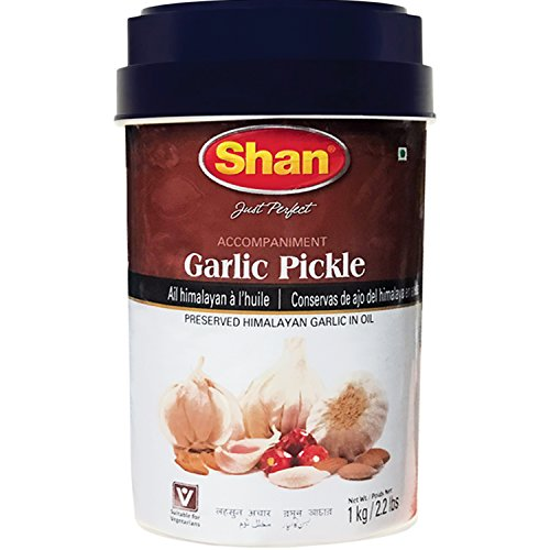 Shan - Garlic Pickle, 1 Kg (2.2 Lb)