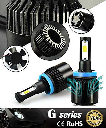 JDM ASTAR G1 8000 Lumens Extremely Bright COB Chips H11 H9 H8 All In One LED Headlight Bulbs Conversion Kit Xenon White