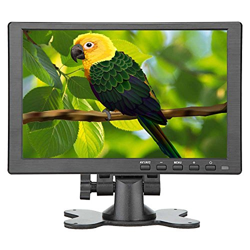 Loncevon-10.1 inch IPS Screen 1280x800 HDMI Display Monitor for Raspberry pi 3 - Small Portable Computer Laptop HDMI VGA Monitor- Video Monitor with Dual Speakers, MP5 USB port, Remote by Loncevon