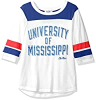 NCAA Mississippi Old Miss Rebels Women's Gridiron Tee , Small, White
