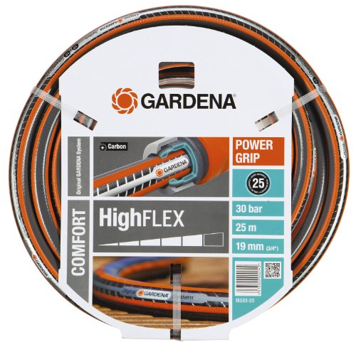 Gardena Gartenschlauch, Comfort HighFlex Schlauch, 19 mm, 3/4 Zoll, 25 m, mehrfarbig, 37.5x37.5x18.5 cm, 18083-20