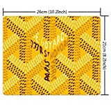 Mouse Pad for Laptop Computer & PC, Non-Slip Rubber Base Printing Design Yellow Goyard Inspire Rectangle (260mm210mm3) Faddish