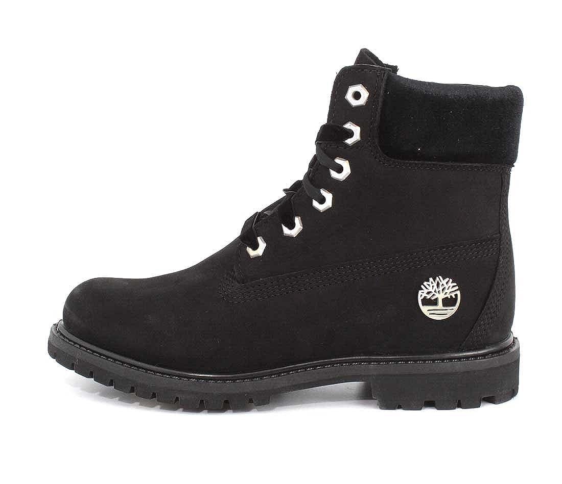 Timberland Navy Leather Women's 6 inch Premium Waterproof BootsBooties Size US 9 Regular (M, B) 17% off retail