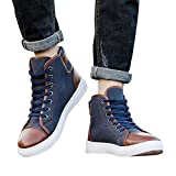 Clearance Men Women Shoes Cinsanong Causal Boots High Top Canvas Lace-Up Ankle Fashoin Shoes