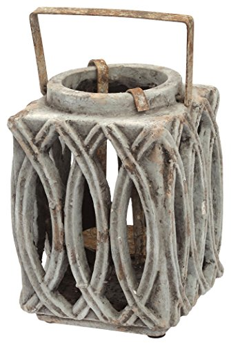Boston International Garden Style Cement Lantern, 8-Inch by 5.5-Inch by 5.5-Inch Review