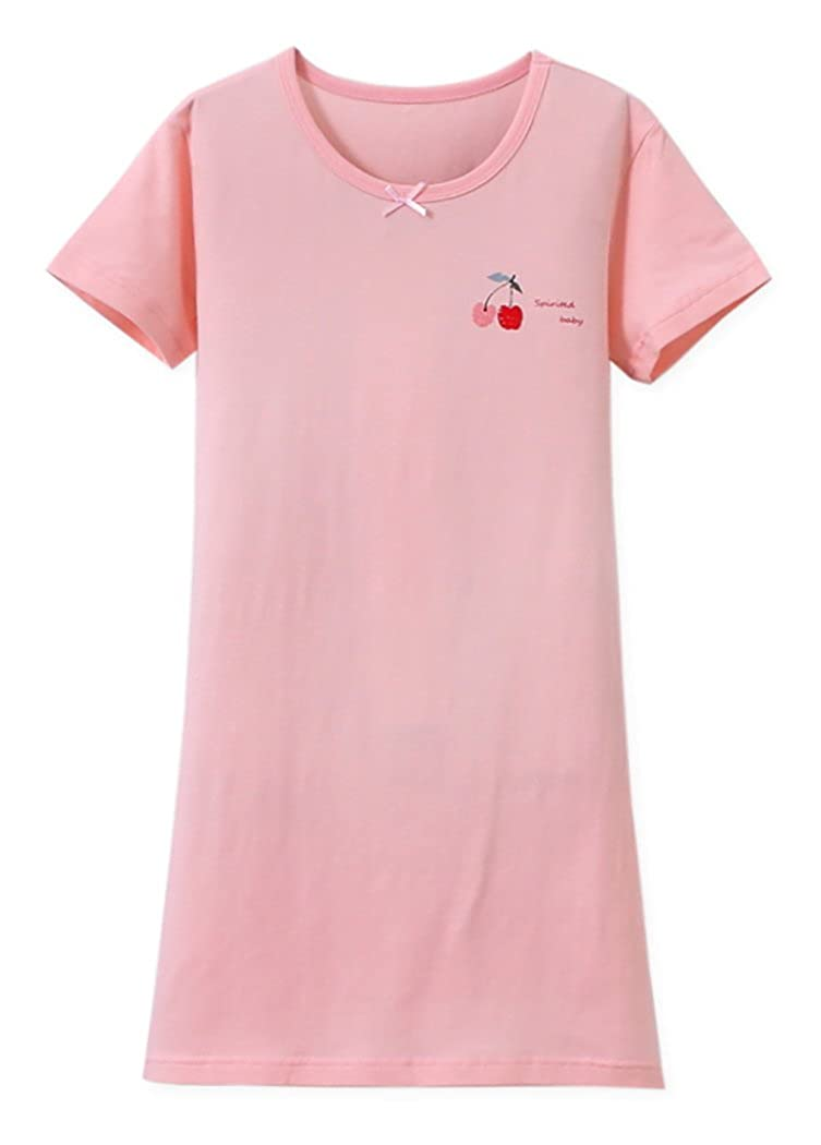 ABClothing Girls Cotton Cherry Nightgown Pink 3-12 Years Old