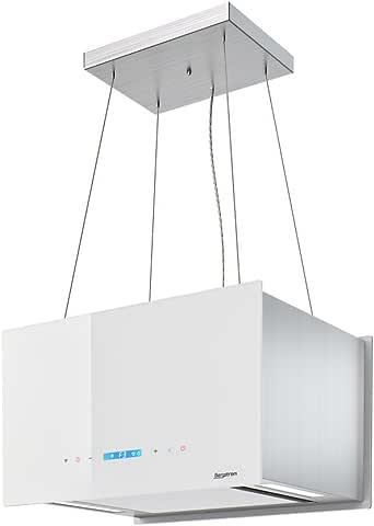Campana extractora Isla – Campana Acero inoxidable freihängend Diseño Bergstroem Clase energética A Color Blanco: Amazon.es: Grandes electrodomésticos