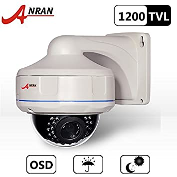 amazon com anran hd 1200tvl wired dome surveillance cctv camera rh amazon com