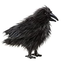 Folkmanis Puppets Raven Hand Puppet, Black