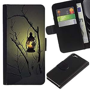 KingStore / Leather Etui en cuir / Apple Iphone 6 / Hiver