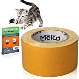 Melca Cat Scratch Deterrent Tape - Sticky Repellent Keeps Paws Off without Catnip Spray or other Supplies (10 Yards) Double Sided