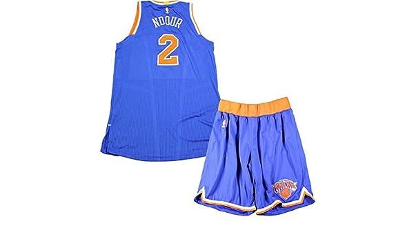 pretty nice f14b3 7cba7 Maurice Daly Ndour New York Knicks 2016-17 Game Used #2 Blue ...