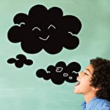 Clouds Shape Blackboard Writing Board Wall Decal Home Sticker PVC Murals Vinyl Paper House Decoration Wallpaper Living Room Bedroom Kitchen Art Picture DIY for Children Teen Senior Adult Nursery Baby