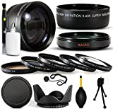 10 Piece Ultimate Lens Package For the PANASONIC HDC-HS250, HS300, TM300 Includes .43x High Definition II Wide Angle Panoramic Macro Fisheye Lens + 2.2x Extreme High Definition AF Telephoto Lens + Professional 5 Piece Filter Kit (UV, CPL, FLD) + Deluxe Lens Cleaning Kit + LCD Screen Protectors + Mini Tripod + 47stphoto Microfiber Cloth Photo Print !