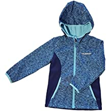 Soft Shell Wind and Water Resistant Girls Jackets (7/8, Blue Glacier)