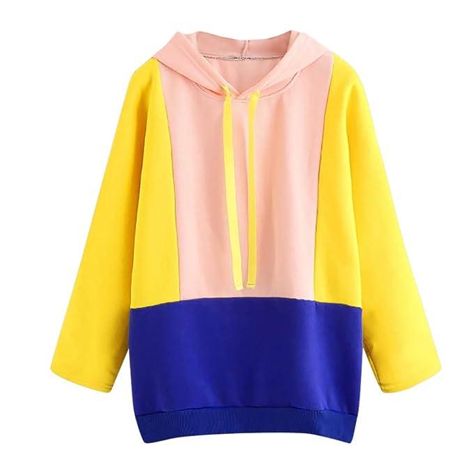 Beladla Sudadera con Capucha para Mujer Bolsillo Casual Recortado Hoodies Outwear Encapuchado Camisa Tops Sudadera Pullover